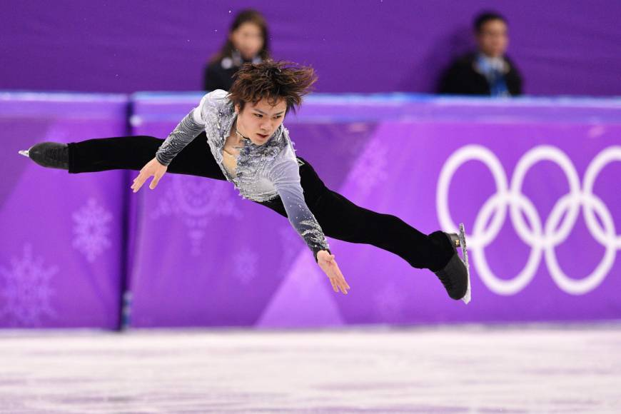 Shoma Uno performs his short-program routine at Gangneung Ice Arena on Friday.