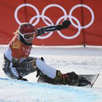 Ester Ledecka claims historic Olympic double with snowboarding gold