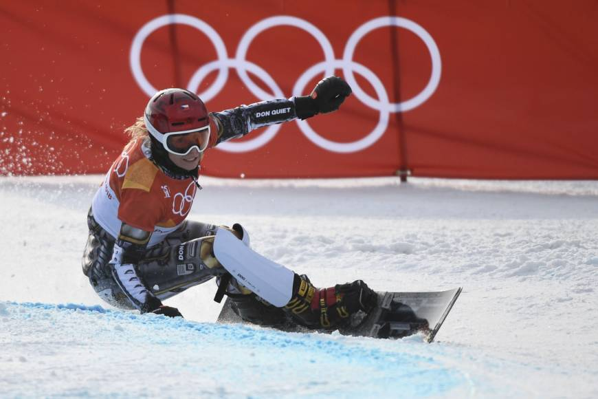 Ester Ledecka of the Czech Republic competes in the women