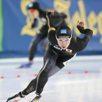 Speedskater Nao Kodaira is hoping to win gold medals in both the 500 and 1,000-meter races at the Pyeongchang Olympics. | KYODO