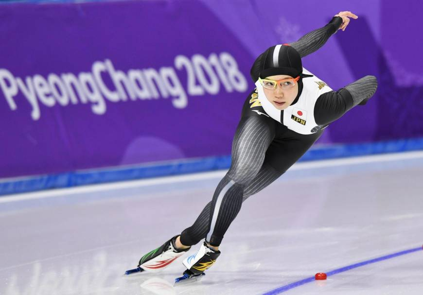 Nao Kodaira skates in the women