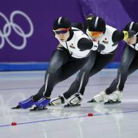 The Japanese raced to gold in the women's team pursuit speedskating event. Two members also garnered individual honors, with Miho Takagi earning silver in the 1,500 and bronze in the 1,000 and older sister Nana winning gold in the mass start. | AP