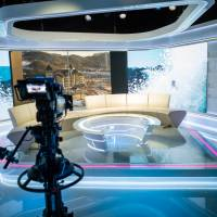 The Discovery IBC Roof Studio is seen in Pyeongchang, South Korea, in this image released on Monday. | REUTERS