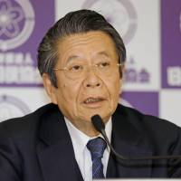 Keiichi Tadaki, a former prosecutor general, speaks during a news conference at Ryogoku Kokugikan on Thursday. Tadaki will lead a new third-party committee to investigate sumo violence, the  Japan Sumo Association announced Thursday. | KYODO