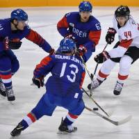 Switzerland's Pius Suter notches hat trick in rout of South Korea