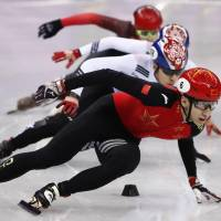 Wu Dajing victorious in men's short-track 500 meters