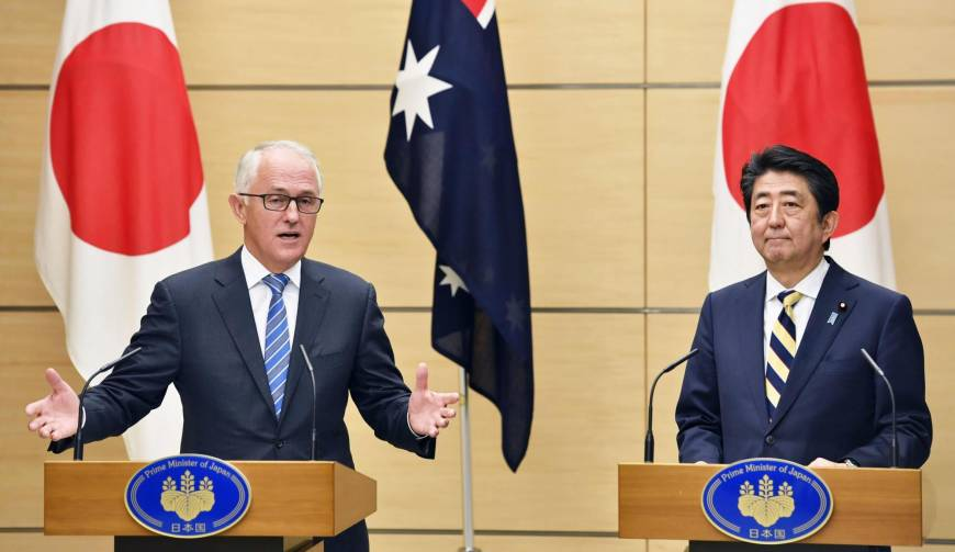 Abe discusses U.S. tariff plan with Australian and Canadian leaders