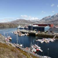 A general view shows the port of Nuuk, Greenland, in 2016. | REUTERS