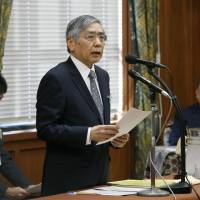 At Diet, Kuroda touches on exit strategy for easing once 2% inflation is reached