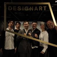 Designart organizers (from left) Okisato Nagata, Hiroshi Koike, Designart director Kimiaki Tanigawa, Akio Aoki, Astrid Klein and Mark Dytham assemble for news conference to announce plans for this year's event. | NACASA AND PARTNERS