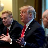 U.S. President Donald Trump announces that the United States will impose tariffs of 25 percent on steel imports and 10 percent on imported aluminum during a meeting at the White House in Washington March 1. | REUTERS