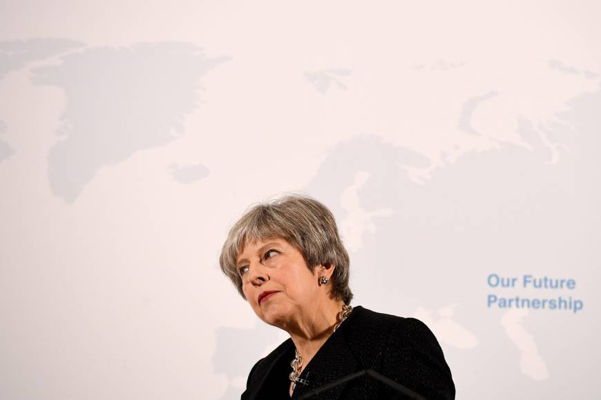 Setting out Brexit vision, May asks EU to show flexibility