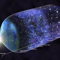 This image provided by the National Science Foundation shows a timeline of the universe. Scientists have detected a signal from 180 million years after the Big Bang when the earliest stars began glowing. The findings were published on Wednesday in the journal Nature. | N.R. FULLER / NATIONAL SCIENCE FOUNDATION / VIA AP