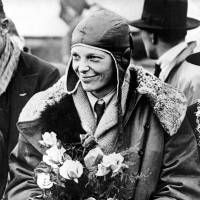 American aviatrix Amelia Earhart poses with flowers as she arrives in Southampton, England, in 1928 after her trans-Atlantic flight on the 'Friendship' from Burry Point, Wales. Bones found in 1940 on a western Pacific Ocean island were quite likely to be remains from famed aviator Amelia Earhart, a new analysis concludes. Until somebody disproves the link, 'the most convincing argument is that they are hers,' University of Tennessee anthropologist Richard Jantz said in a statement from the institution. | AP
