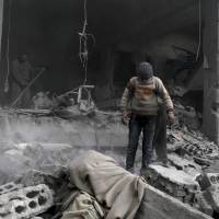 Suspected Russian airstrike on Ghouta kills 15 children and two women sheltering in school basement