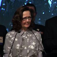 This October 2017 videograb still image obtained Tuesday courtesy of the OSS Society shows Gina Haspel, deputy director of the CIA, speaking at the 2017 William J. Donovan Award Dinner in Washington. Gina Haspel, nominated by President Donald Trump to lead the CIA, is a black ops veteran who once ran a secret interrogation operation in Thailand accused of torturing detainees. If approved by the Senate, Haspel would be the first woman ever to run the Central Intelligence Agency. | OSS SOCIETY / HANDOUT / VIA AFP-JIJI