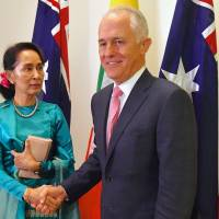 Australian leader Turnbull to raise human rights issue in meeting with Myanmar's Suu Kyi