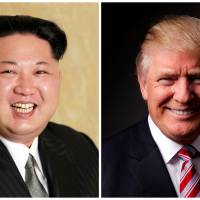 Kim Jong Un and Donald Trump are seen in a combination photo. Kim has invited Trump to meet for negotiations over its nuclear program, an audacious diplomatic overture that would bring together two strong-willed, idiosyncratic leaders who have traded threats of war. | KCNA / VIA REUTERS