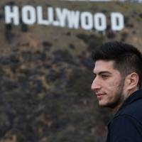 Syrian national Thaer Mohammed, the cinematographer for the Oscar nominated documentary 'Last Men in Aleppo,' poses for a photo in Hollywood, California, Saturday. | AFP-JIJI