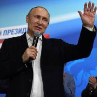 Putin claims crushing victory in Russian presidential election