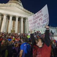 West Virginia teachers tell GOP-led legislature strike will continue unless agreed-upon 5% pay hike stands