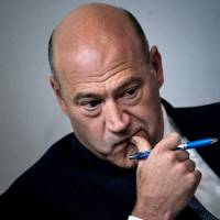 U.S. National Economic Council chief Gary Cohn waits to speak about tax reform during a briefing at the White House in Washington last September.   AFP-JIJI