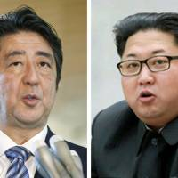Prime Minister Shinzo Abe is reportedly 'exploring the possibility' of a bilateral summit with North Korean leader Kim Jong Un. | KYODO