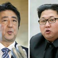 The Japanese government plans to examine the possibility of a summit between Prime Minister Shinzo Abe and North Korean Leader Kim Jong Un, sources said. | KYODO, YONHAP / VIA KYODO