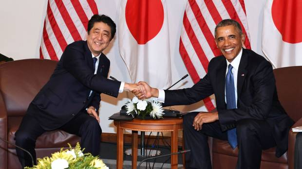 Abe will meet former U.S. President Obama on Sunday, Japanese government says