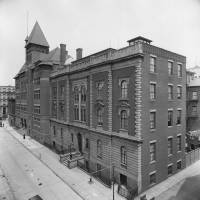 The Brooklyn Collegiate and Polytechnic Institute is seen in an 1895 photo. | GETTY IMAGES / KYODO