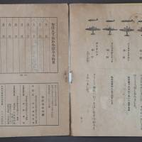 Memorizing different types of enemy aircraft was part of summertime homework for wartime elementary school pupils. | CHUNICHI SHIMBUN