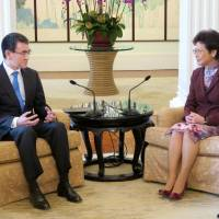 Japanese Foreign Minister Taro Kono asks Hong Kong chief Carrie Lam to scrap 3/11 food import restrictions