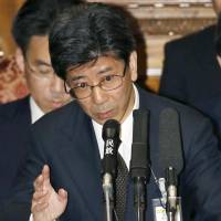 National Tax Agency chief Nobuhisa Sagawa speaks at a Lower House committee session in March last year. He has reportedly decided to step down the shady Moritomo Gakuen land deal linked to the prime minister's wife. | KYODO