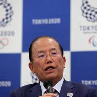 Toshiro Muto, the 2020 games director-general, speaks during a news conference in Tokyo on Wednesday, after an executive board meeting of the Tokyo Organizing Committee of the Olympics and Paralympic Games. | AFP-JIJI