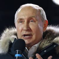 Japan lauds Vladimir Putin's victory as isle row anchors Russo-Japanese diplomacy