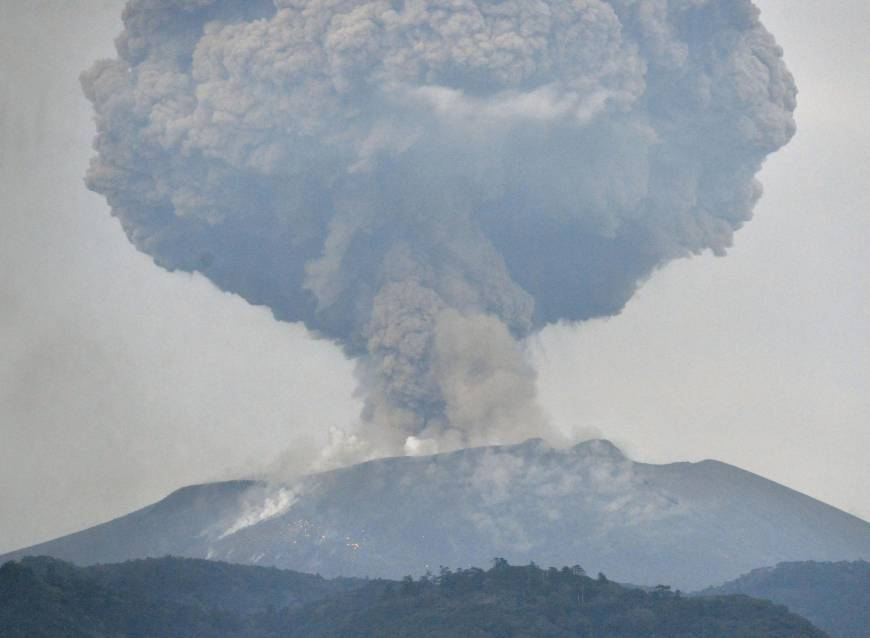 Mount Shinmoe's explosive eruptions likely to continue for several months, experts say