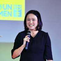Miwa Kato, U.N. Women's Asia-Pacific regional director, gives a speech at an event at Sophia University in Chiyoda Ward, Tokyo, on March 1. | YOSHIAKI MIURA