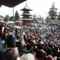 Roughly 3 million people visit Naritasan Shinshoji Temple in Narita, Chiba Prefecture, during the first three days of every year. | KYODO