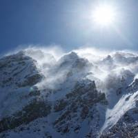 Stiffed by the breeze: Wind proved the deciding factor in the author's attempt on Mount Aka. | OSCAR BOYD