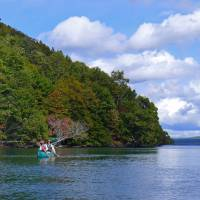 Canoeing with a twist on Hokkaido's volcanic Lake Kussharo