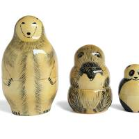 'The Bears' set of Russian nesting dolls from the series 'Secrets of Russia' (2012)