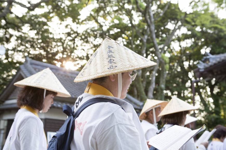 Dressed for the part: people of all ages attempt the Shikoku Pilgrimage wearing the pilgrim