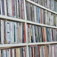 Stacks of records: The walls of the Koyama family home are stacked with recordings, magazines and texts from Kiyoshi Koyama's long career in the music industry.   KATHERINE WHATLEY