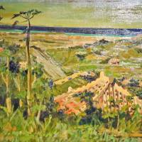 Colorful view: 'Okinawan Landscape' by Seikan Omine (1910-1987)  OKINAWA INSTITUTE OF SCIENCE AND TECHNOLOGY (OIST) / CC-BY-SA-2.0