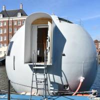 Nice pod: Huis Ten Bosch in Nagasaki Prefecture showed off its new floating pods to the media on March 6. | KYODO
