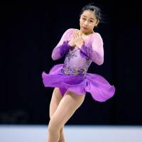 Mako Yamashita, a  15-year-old from Nagoya, landed seven triple jumps in her free skate to earn the bronze medal at the world junior championships in Sofia on Saturday. | KYODO