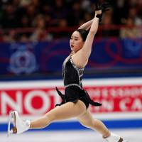 Wakaba Higuchi vaulted from eighth place after the short program to claim the silver medal at the world championships in Milan on Friday night with a sublime performance. | REUTERS
