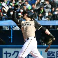 Infielder Brandon Laird is preparing for his fourth NPB season with the Fighters. | KYODO