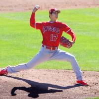 Shohei Ohtani strikes out eight for Angels