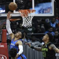 Russell Westbrook notches 100th triple-double in win